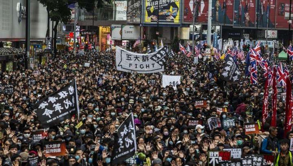 Hong Kong: 400 detenidos tras marcha