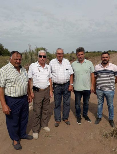 De izq. a der.: Néstor Traverso, Alejandro Borchex, Miguel Ángel Guruceaga, Gustavo Frederking, y Germán Aguilar.