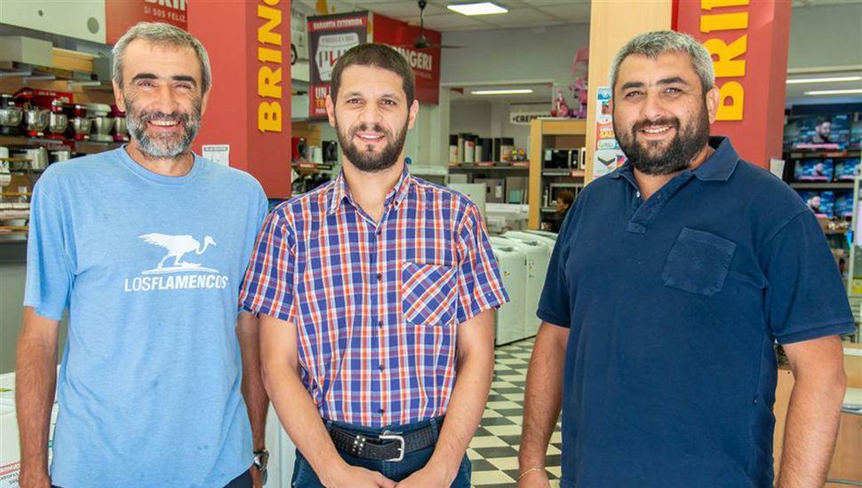 Julio Gómez, Matías Piegari y David Forconi.