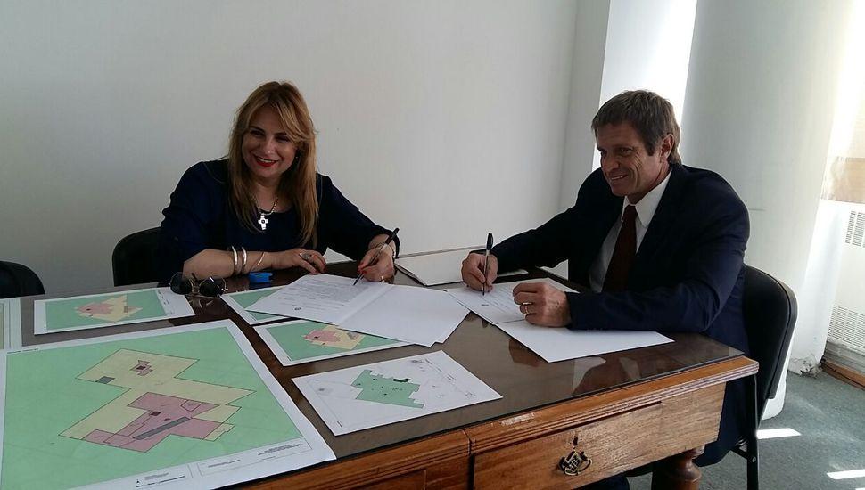 """Se firmó el convenio de """"Ordenamiento urbano y territorial"""""""