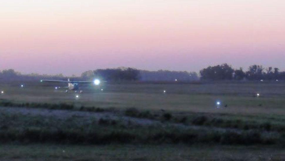 El Aeródromo de 9 de Julio recuperó el balizamiento en la pista