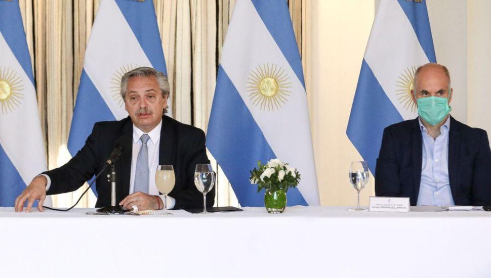 Rodríguez Larreta y Fernández dieron un mensaje antigrieta