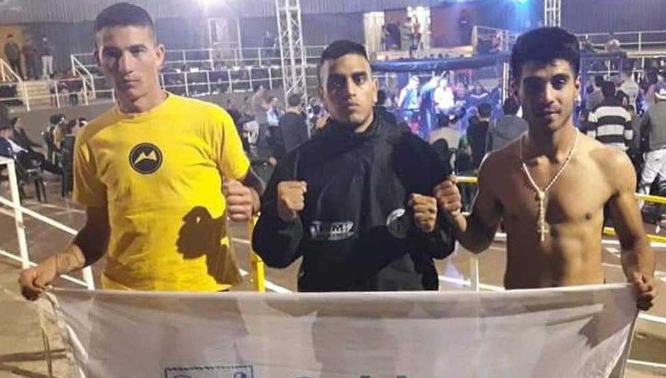 Los peleadores de Junín cumplieron buenas actuaciones en La Falda.