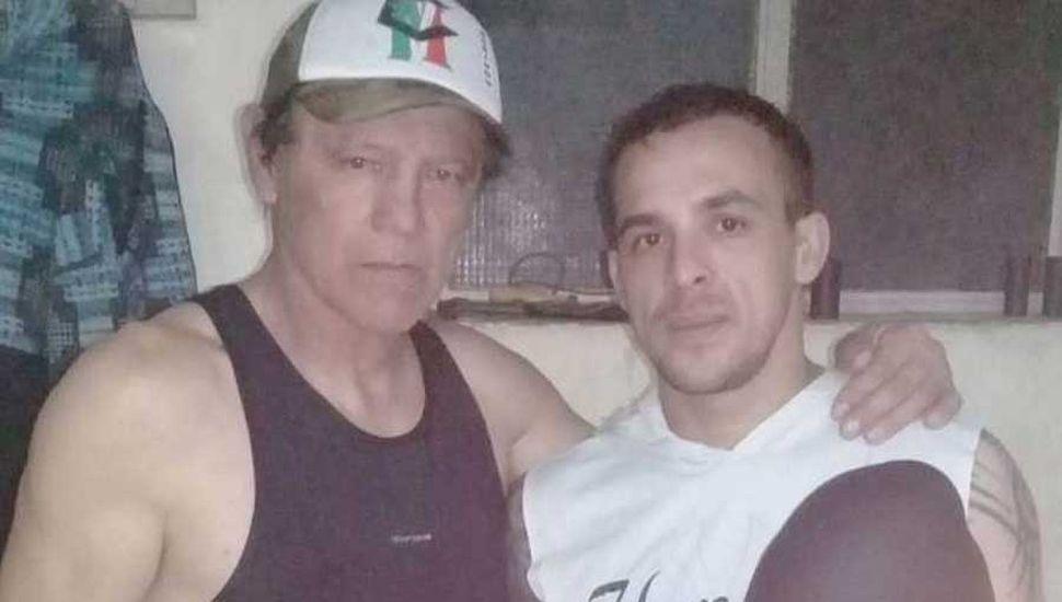 Fabricio Patrón junto al técnico, Norberto