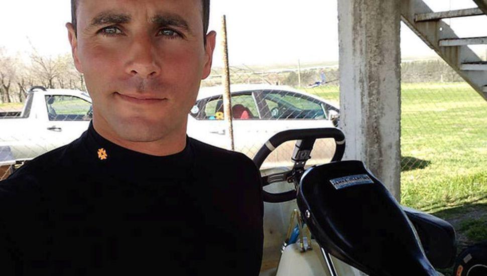 Federico Pérez corrió el fin de semana en karting, en Baradero y con el equipo