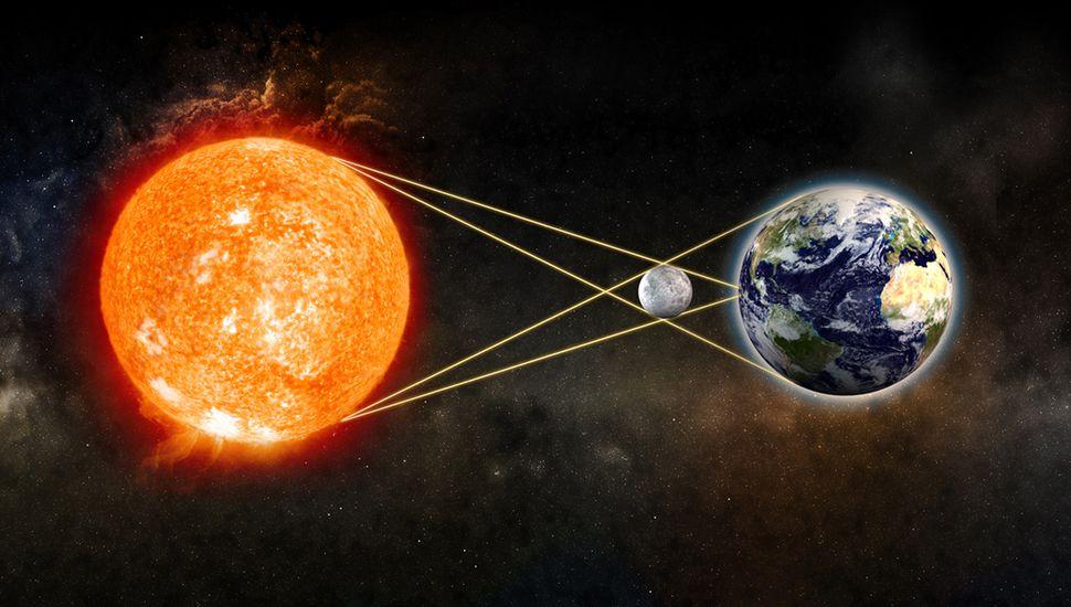 Los turistas se preparan para ver el eclipse total de sol en Argentina