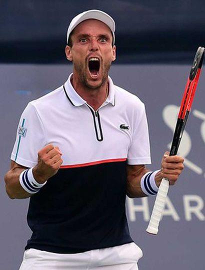Bautista Agut eliminó a Novak Djokovic.
