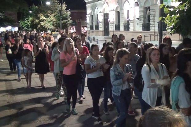 Multitudinaria marcha contra los abusos sexuales en Rojas
