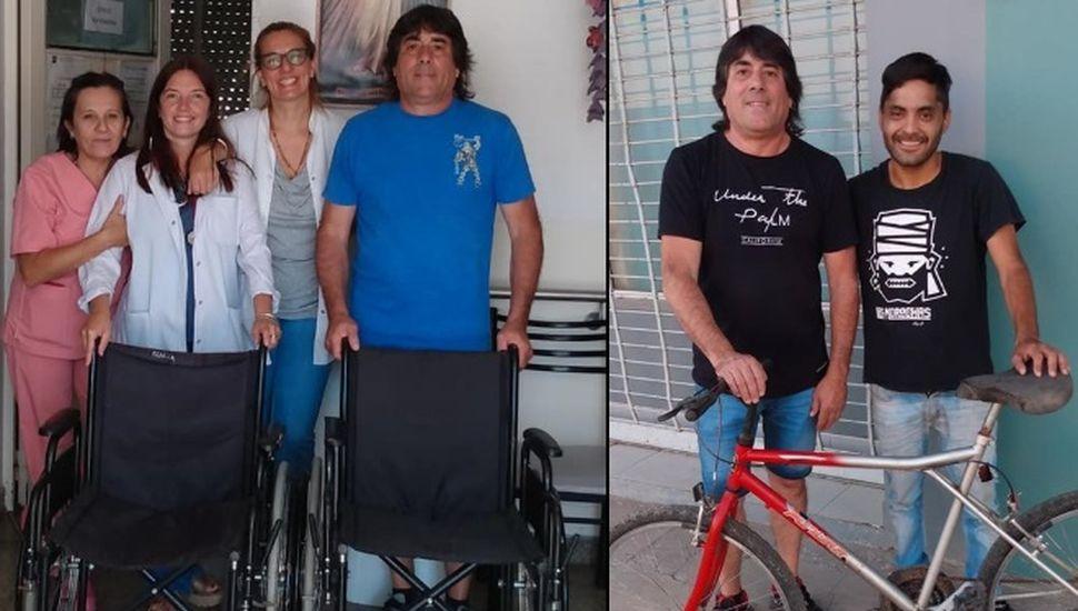 Destacan la actividad del bicicletero solidario de Chacabuco