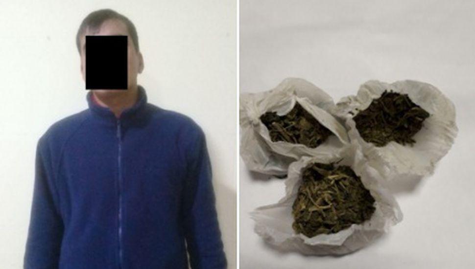 Detuvieron a un hombre con marihuana en Rojas