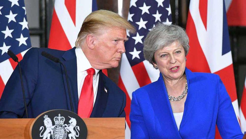 """May y Trump aspiran a un """"ambicioso"""" acuerdo comercial"""