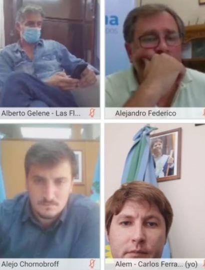 Ferraris participó de una videoconferencia con Axel Kicillof
