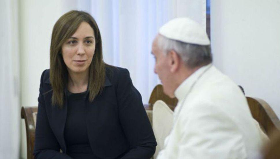 María Eugenia Vidal, que acaba de reunirse con el papa Francisco, recibió durísimas críticas de la Iglesia.