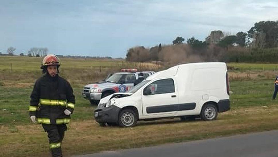 El conductor del Fiat Fiorino fue trasladado al Hospital.