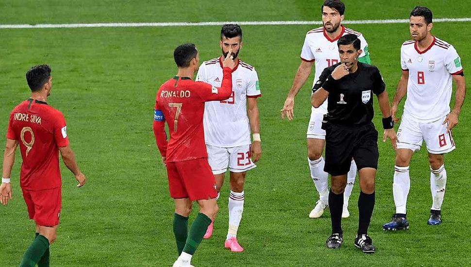 Partido con varias polémicas entre Portugal e Irán.