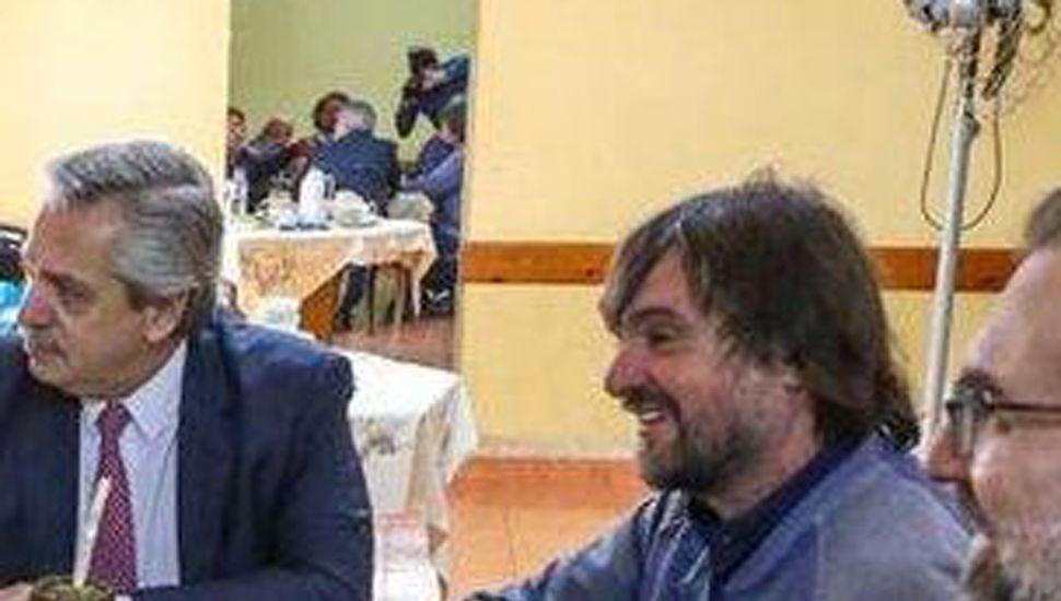 Alberto Fernández habló de la creación  de empleo, con curas villeros