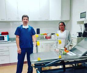 Los médicos Federico Traverso y Mariana Gableano.