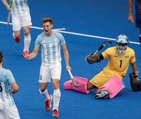 Escena del gran triunfo de Argentina sobre Chile.