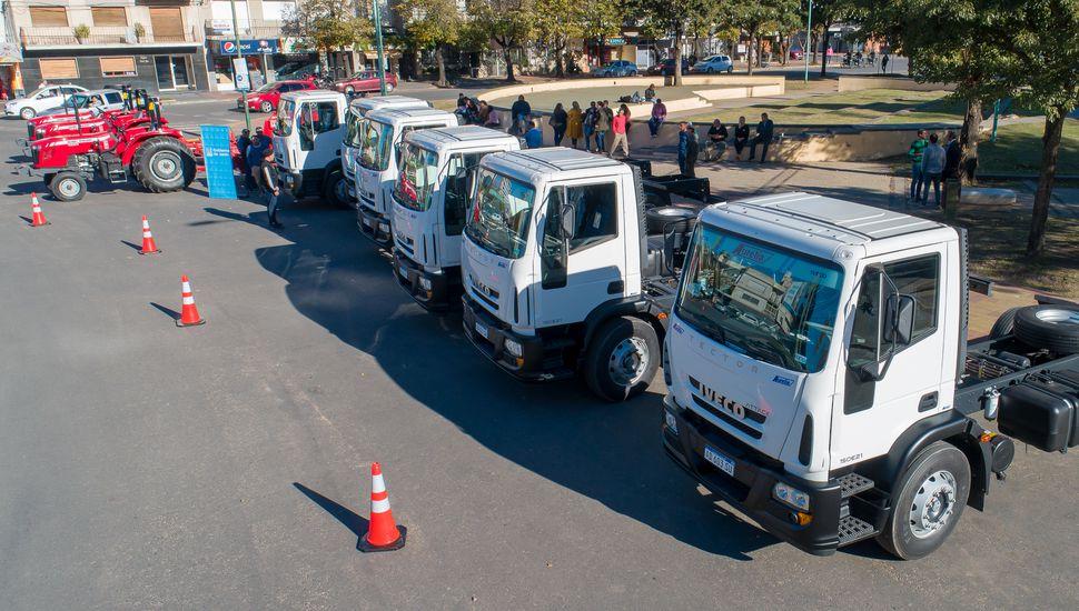 El Municipio presentó nuevos vehículos para mejorar los servicios