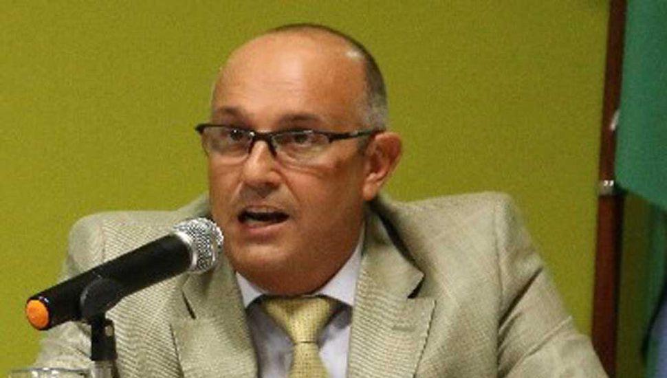 El intendente Alexis Guerrera habla en el Concejo Deliberante, para abrir el período de sesiones. ordinarias 2.019.