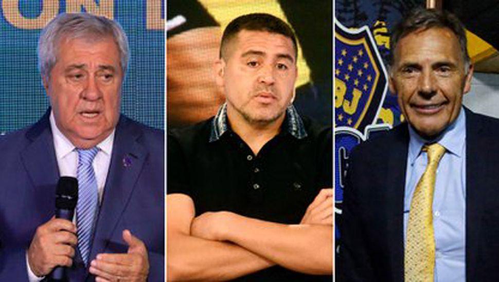 Jorge Amor Ameal, Juan Román Riquelme y Miguel Ángel Russo.