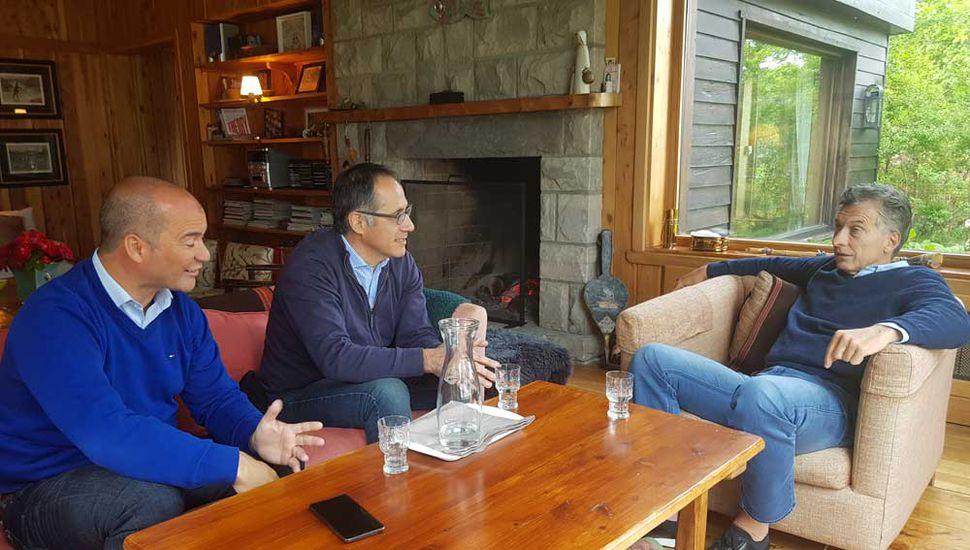 El presidente Mauricio Macri recibió ayer al diputado nacional por la provincia de Río Negro, Sergio Wisky.
