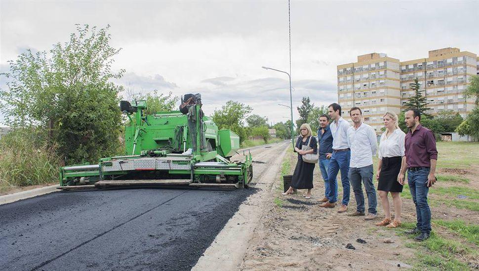 El Municipio avanza con obras de asfalto