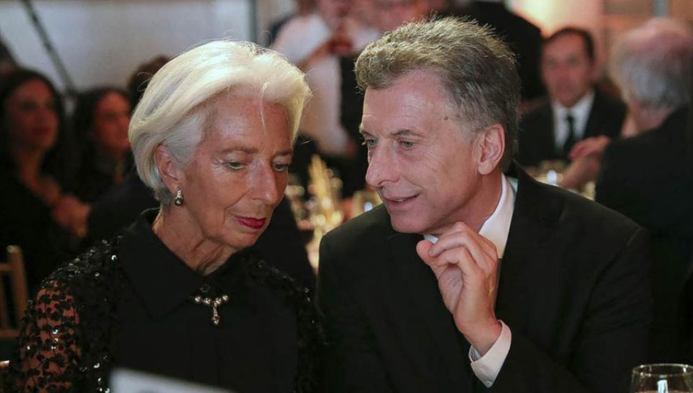 El presidente Mauricio Macri junto a la directora del FMI, Christine Lagarde.