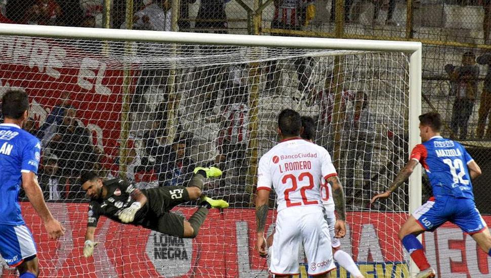 En el último ataque, Unión le empató a Infdependiente con gol de Nicolás Mazzola.