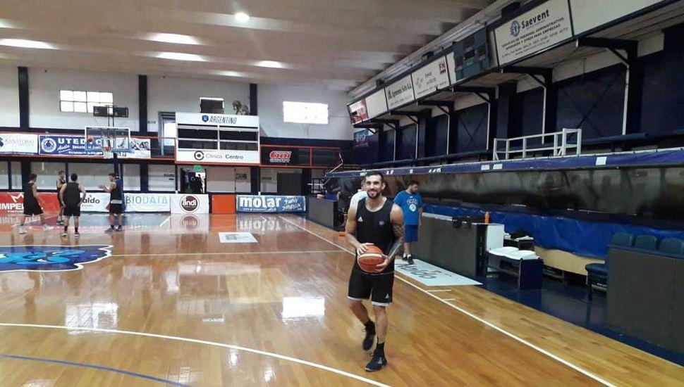 Santiago Egas, durante un entrenamiento esta semana.