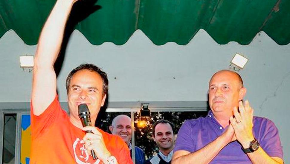 El intendente electo Fredy Zavatarelli, junto al actual jefe comunal y diputado electo Alexis Guerrera.