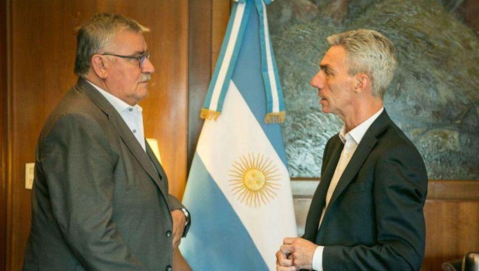 Meoni recibió en su despacho al intendente de Bragado.