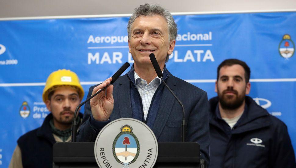 Mauricio Macri, en tono de campaña electoral, pasó por Mar del Plata.