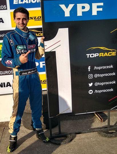 """Lucas Gambarte Ponce de León hizo el """"1"""" en el entrenamiento de ayer del Top Race Series."""