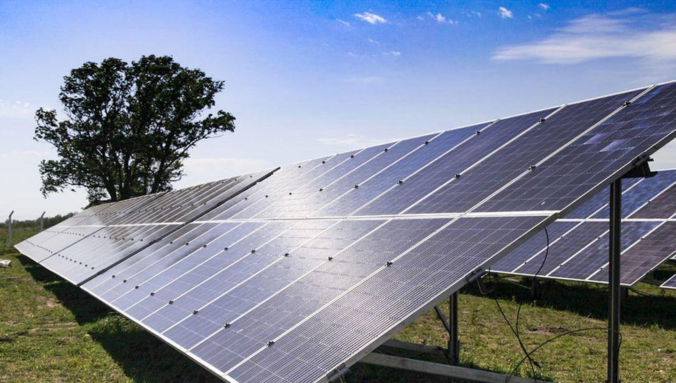 Parque solar en Bayauca.
