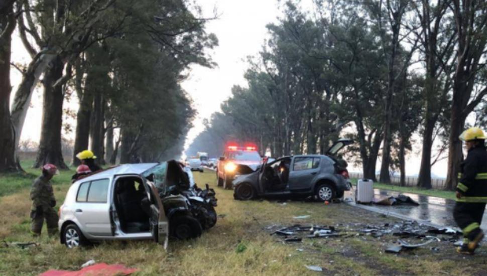 Tres muertos en un choque múltiple sobre la Ruta 8 a la altura de Fontezuela