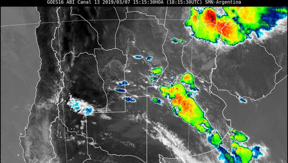Alerta por tormentas con ráfagas y ocasional caída de granizo en la Región