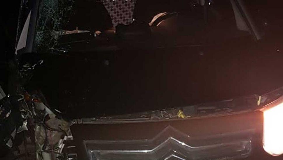 El auto quedó sobre la banquina.