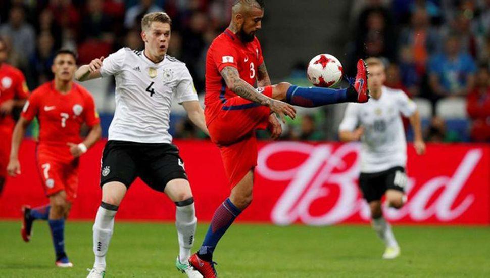 Chile y Alemania animaron un vibrante cotejo e igualaron en Rusia