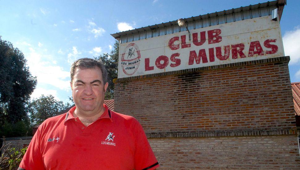 Carlos Tayaldi, presidente del Club Los Miuras.