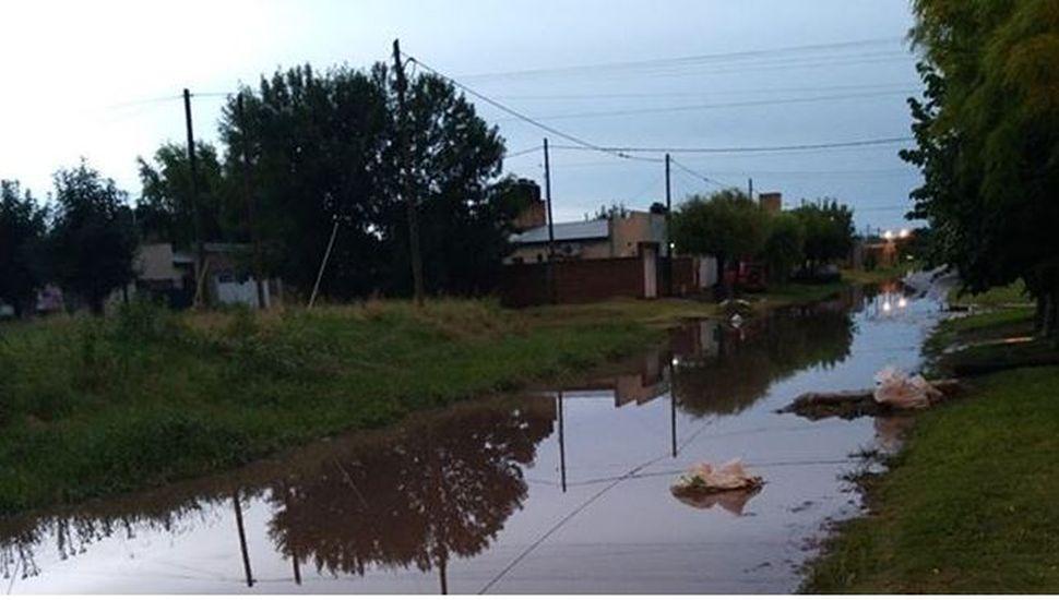 Dos familias tuvieron que ser evacuadas en Bragado por las lluvias