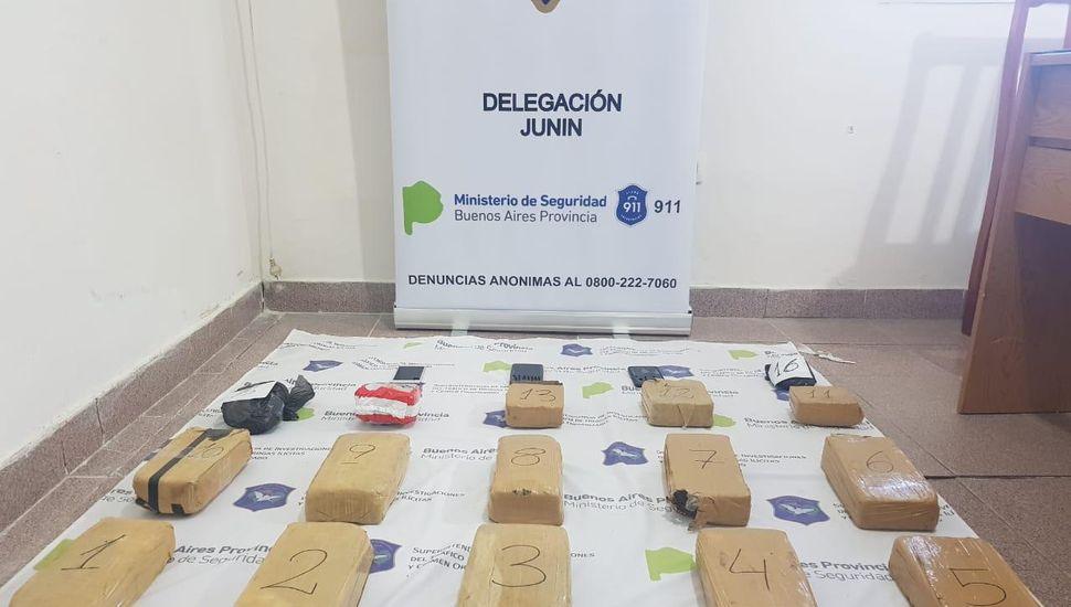 Junín: secuestraron más de 15 kilos de marihuana