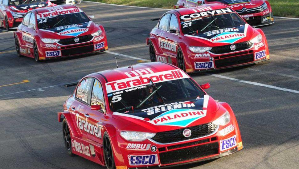 Los tres autos del equipo oficial Fiat de Súper T.C. 2000 quieren destacarse en General Roca.