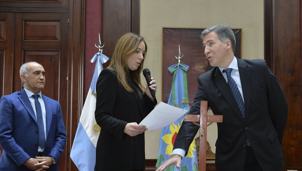 Vidal tomó juramento a Damián Bonari, nuevo ministro de Economía