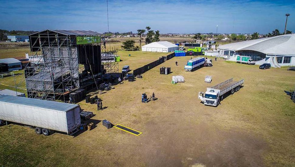 Todo listo para el gran festival.