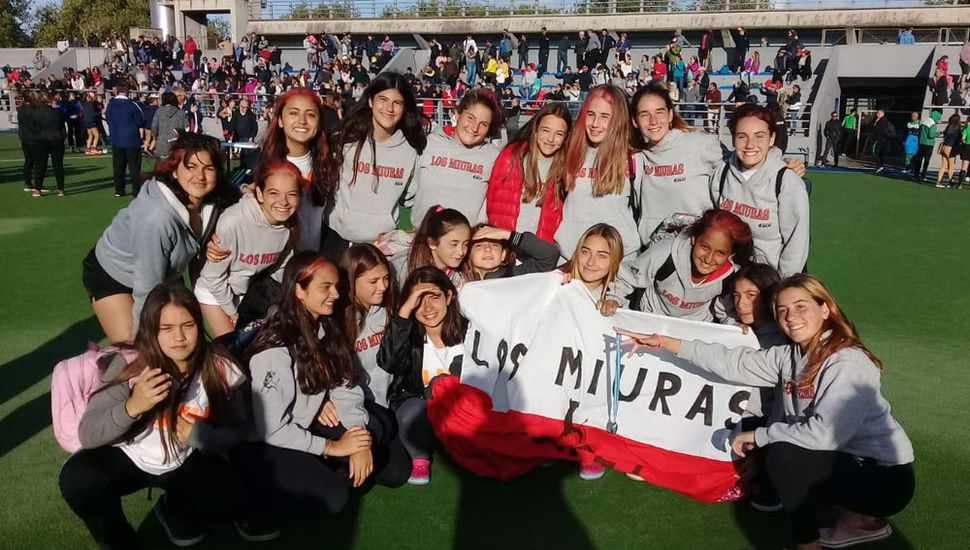 Las chicas del Club Los Miuras en Mar del Plata.