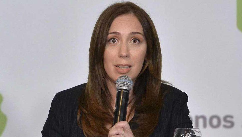 Gobernadora María Eugenia Vidal.