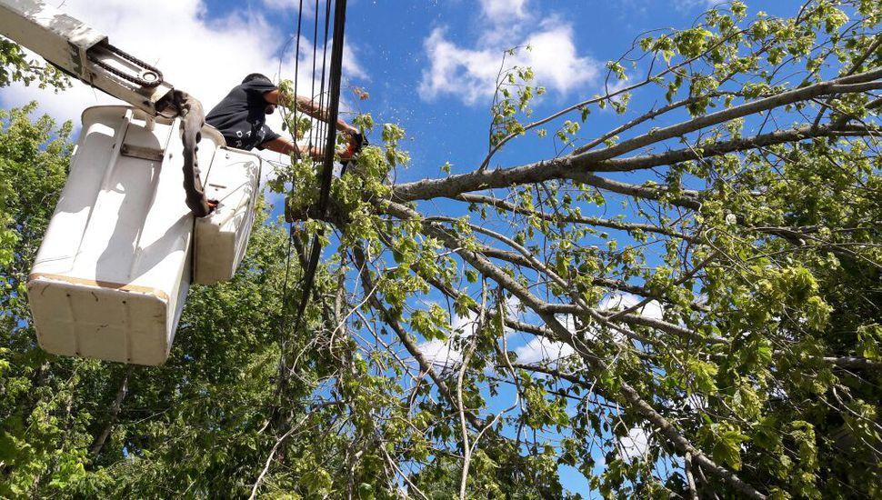 Se realizan trabajos por la tormenta que pasó por Junín