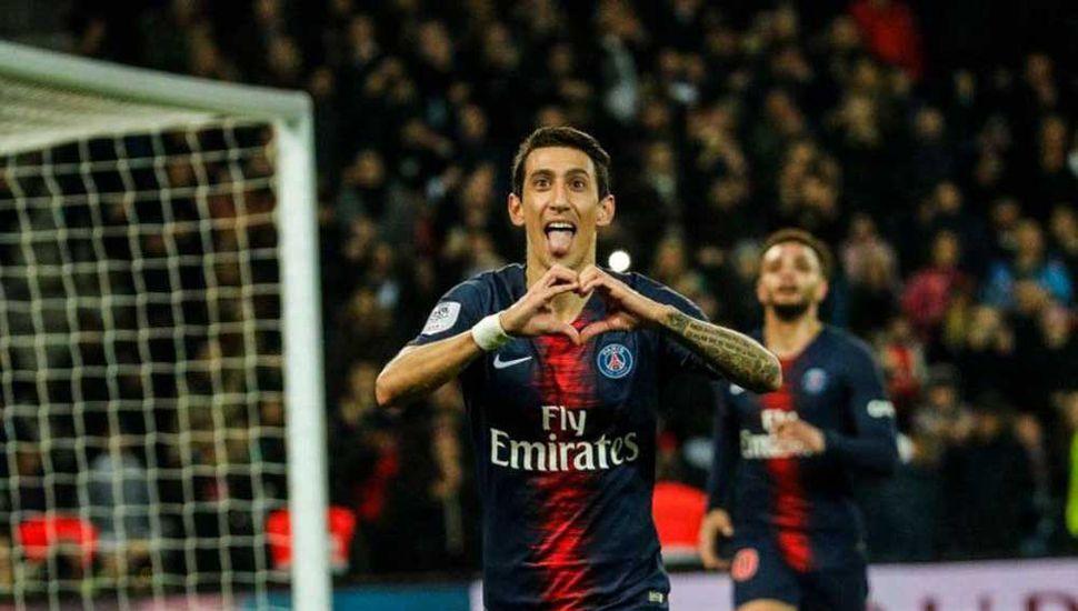 Ángel Di María anotó  en un nuevo éxito del Paris Saint-Germain
