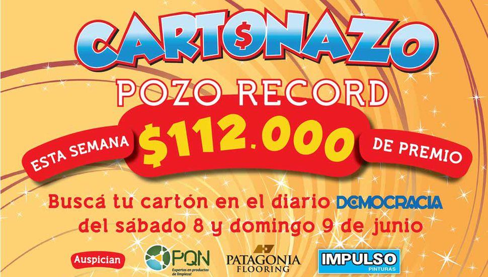 El Cartonazo tiene pozo récord histórico: esta semana es de 112 mil pesos